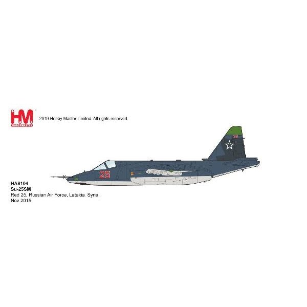 Hobby Master Su25SM Frogfoot RED25 Russian AF Syria 2015 1:72