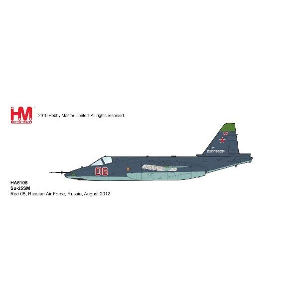 Hobby Master Su25SM Frogfoot RED06 Russian AF 2012 1:72