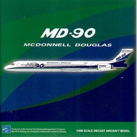 JC Wings MD90 McDonnell Douglas House Livery N901DC 1:400