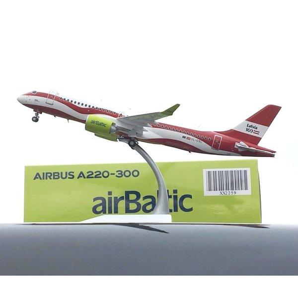 JC Wings A220-300 Air Baltic Latvia 100th YL-CSL 1:200