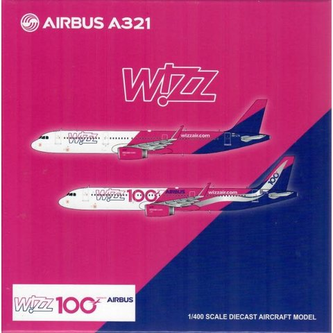 A321S Wizz Air 100th Wizz Airbus HA-LTD 1:400