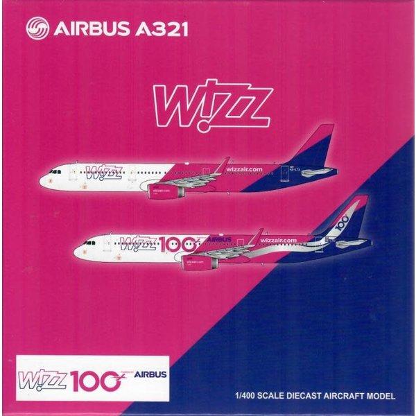 JC Wings A321S Wizz Air 100th Wizz Airbus HA-LTD 1:400
