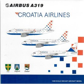 JC Wings A319 Croatia Airlines 25 Years Godina 9A-CTH 1:400