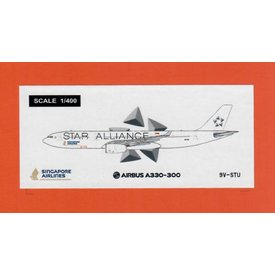JC Wings A330-300 Singapore Star Alliance 9V-STU 1:400