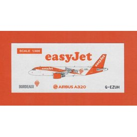 JC Wings A320 EasyJet Bordeaux Livery G-EZUH 1:400