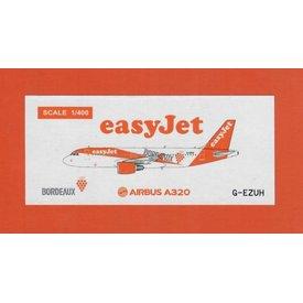 JC Wings A320 EasyJet Bordeaux Livery G-EZUH 1:400
