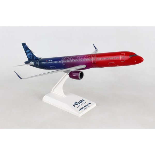 SkyMarks A321neo Alaska More To Love 1:150 with stand