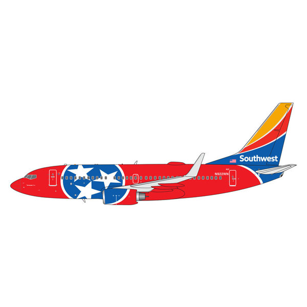 Gemini Jets B737-700W Southwest Tennessee One N922WN 1:400
