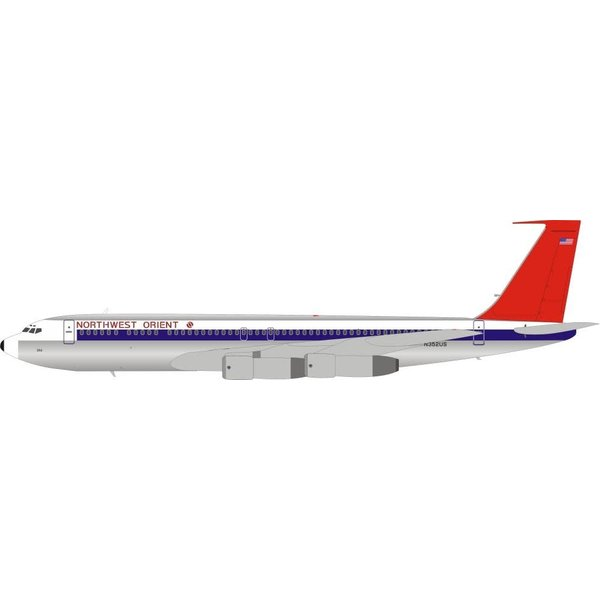 InFlight B707-300BC Northwest Orient red tail N352US 1:200 stand
