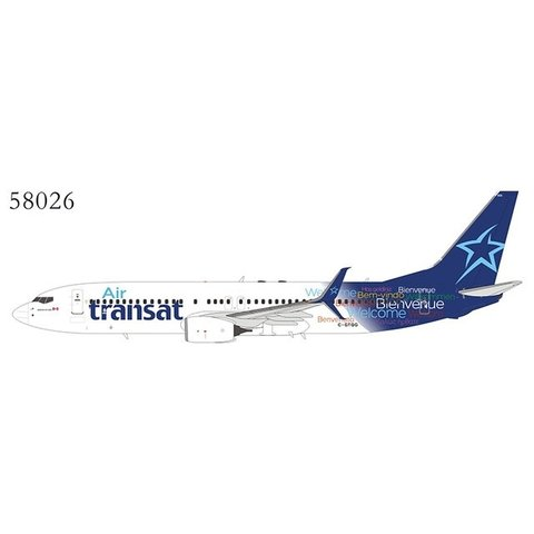 B737-800S Air Transat Welcome livery C-GTQG 1:400 scimitars