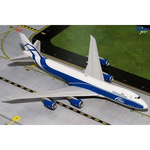 Gemini Jets B747-8F Air Bridge Cargo VQ-BRJ 1:200 with stand