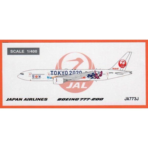 JC Wings B777-200ER JAL Tokyo 2020 JA773J 1:400