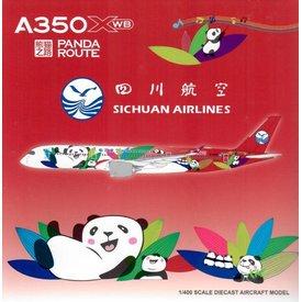 JC Wings A350-900 Sichuan Panda Route B-306N 1:400 flaps