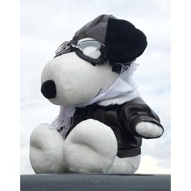 Snoopy Pilot Plush Toy with Goggles, Helmet & jacket