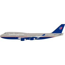 InFlight B747-400 United Airlines grey livery N172UA 1:200