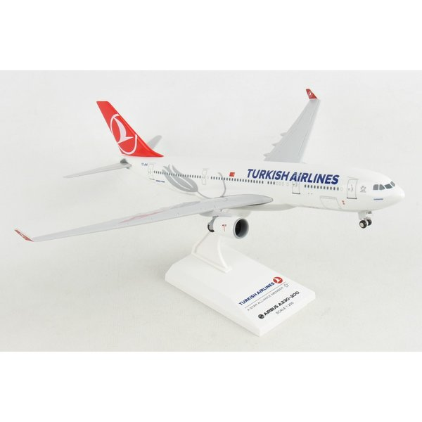 SkyMarks A330-200 Turkish THY 1:200 with gear + stand