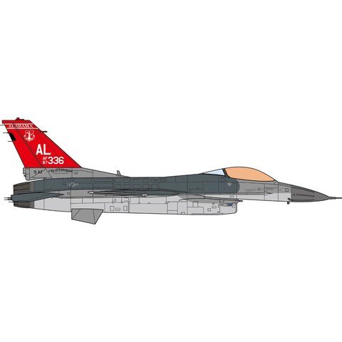 F16C Fighting Falcon 160FS 187FW Red Tail AL ANG 1:72