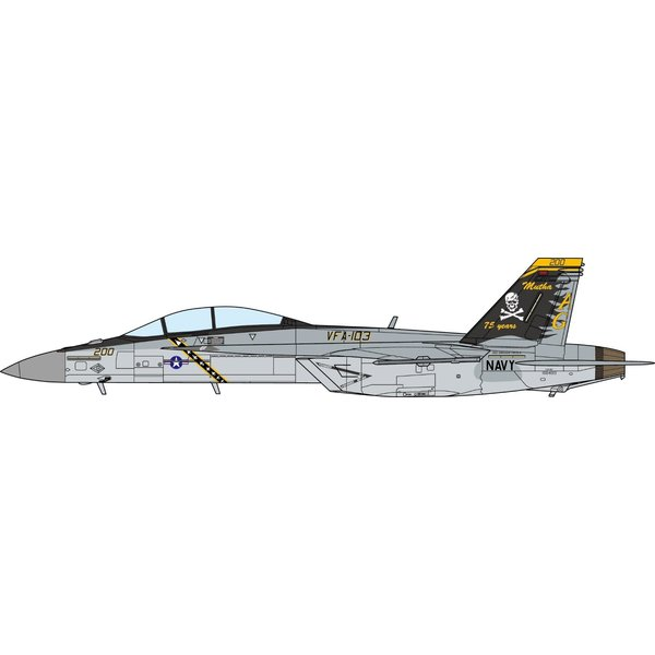 JC Wings FA18F Super Hornet VFA103 Jolly Rogers 75th 1:72