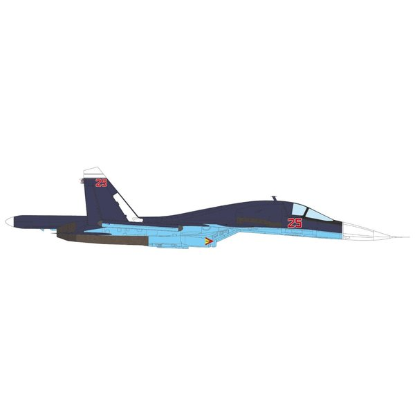 JC Wings SU34 Fullback Russian Air Force RED 25 Syria 1:72