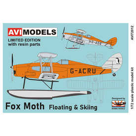 AVI Models DH83 Fox Moth RCAF Station Gander floats & skis 1:72