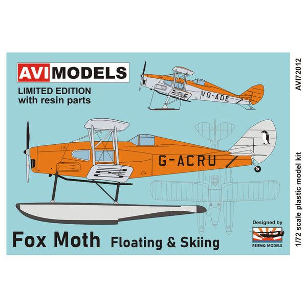 AVI Models DH83 Fox Moth RCAF Station Gander floats & skis 1:72