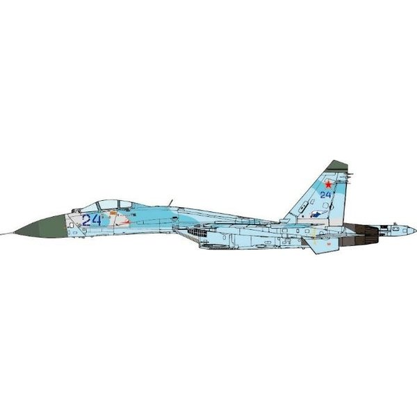 JC Wings SU27MKI Flanker 582IAP Russian AF BLUE 24 1:72