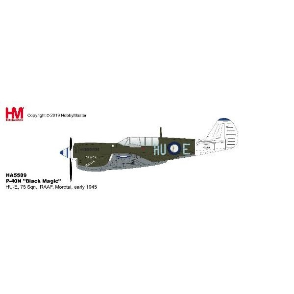 Hobby Master P40N Kittyhawk 78 Sqn.RAAF HU-E Black Magic 1:72