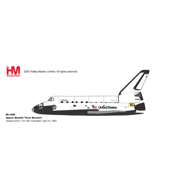 Hobby Master Space Shuttle Columbia NASA OV-102 1st Mission 1:200