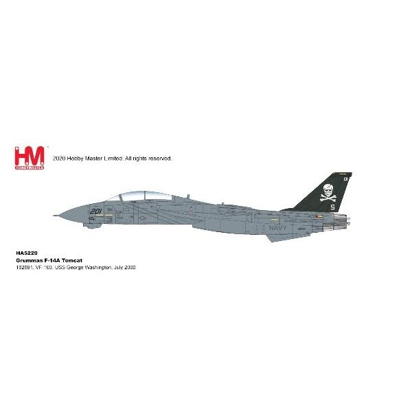 Hobby Master F14A Tomcat VF84 Jolly Rogers 201 1993 1:72