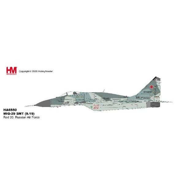 Hobby Master MIG29 SMT Fulcrum Russian Air Force RED20 1:72