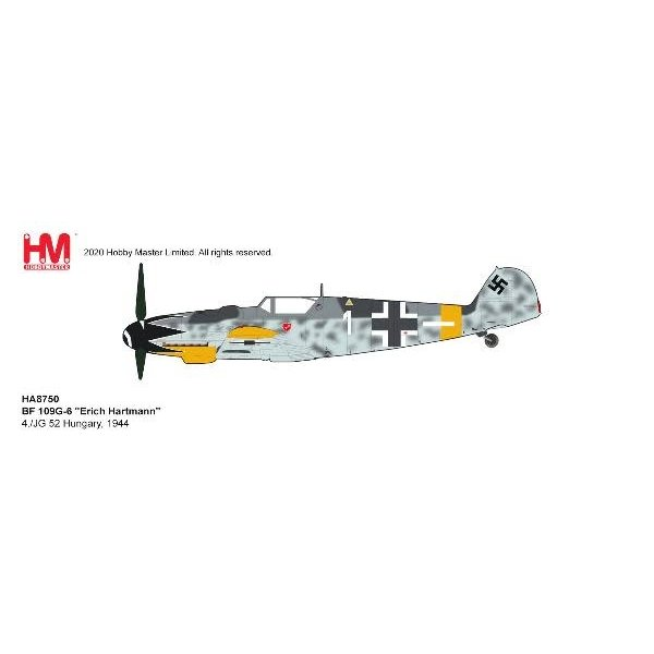 Hobby Master Bf109G-6 4./JG 52 Erich Hartmann WHITE1 1:48