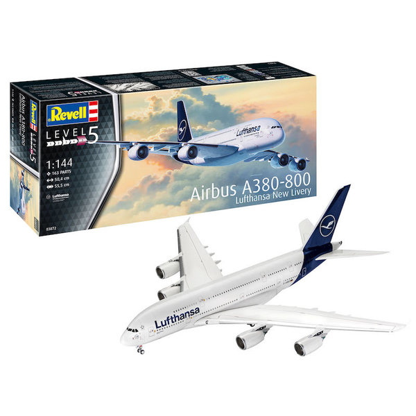 Revell Germany A380-800 Lufthansa New Livery 2018 1:144 2019 issue
