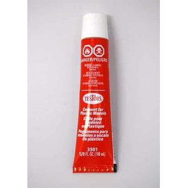 Testors Glue Plastic Cement Tube 5/8 Oz (18 ml)