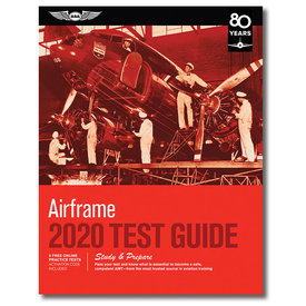 ASA - Aviation Supplies & Academics Airframe Test Guide 2020 softcover
