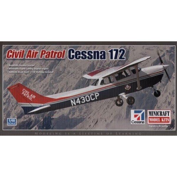 Minicraft Model Kits CESSNA C172 CIVIL AIR PATROL 1:48