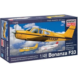 Minicraft Model Kits BEECH BONANZA F33 Airline Training Center, AZ 1998 1:48