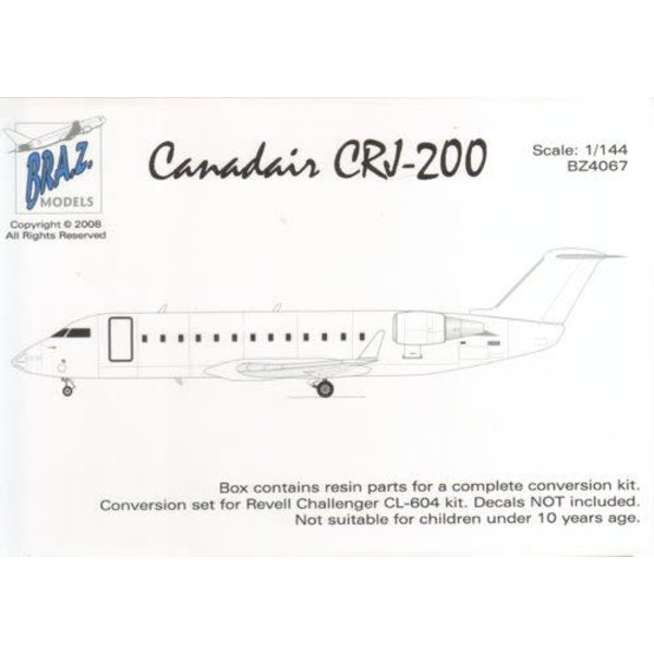 BRAZ Canadair CRJ-200 Conversion Set (designed to be used with Revell kits) 1:144*