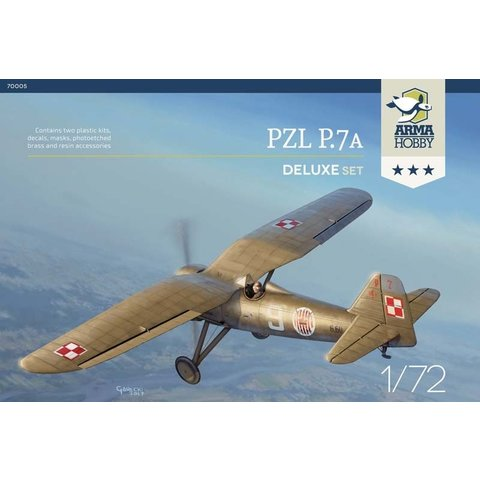 ARMA PZL P7a Deluxe Set 1:72 contains two full kits