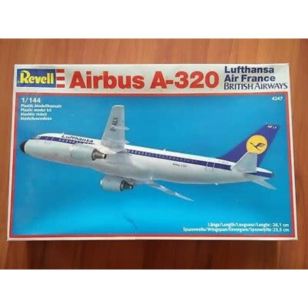 Revell Germany A320 LUFTHANSA/AIR FRANCE 1:144 **Discontinued** Used