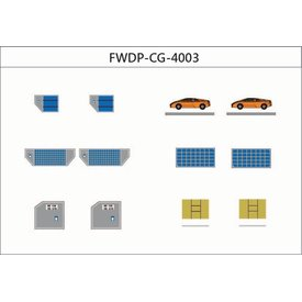 JC Wings GSE Cargo Add on Set Containers, Boxes, Cars 1:400 diecast (12 in set)