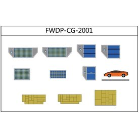 JC Wings GSE Cargo Add on Set Containers, Boxes, Cars 1:200