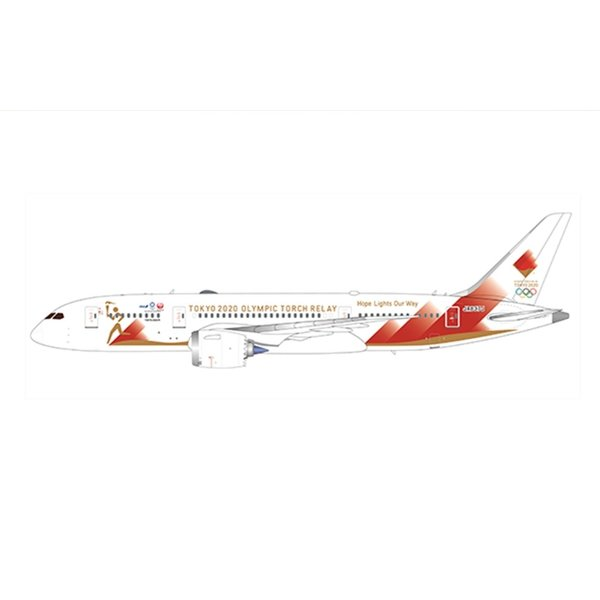 JC Wings B787-8 Dreamliner JAL Torch Relay JA837J 1:500