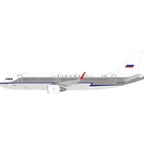 A320S Aeroflot Retro livery VP-BNT 1:200 with stand