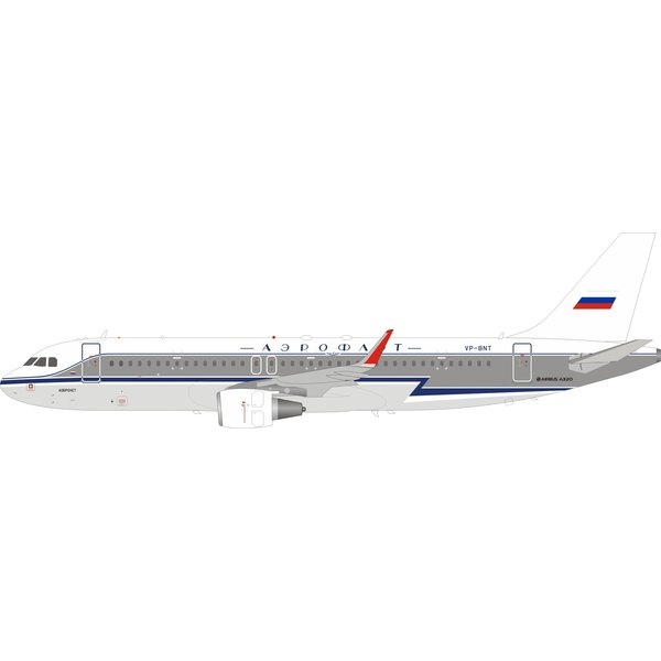 InFlight A320S Aeroflot Retro livery VP-BNT 1:200 with stand
