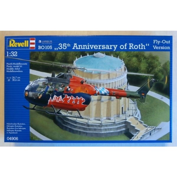 "Revell Germany BO105 ""35th Anniversary of Roth"" Fly Out Version 1:32**Discontinued**"