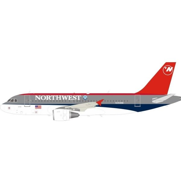 InFlight A319 Northwest bowling shoe N359NB 1:200 +Preorder+
