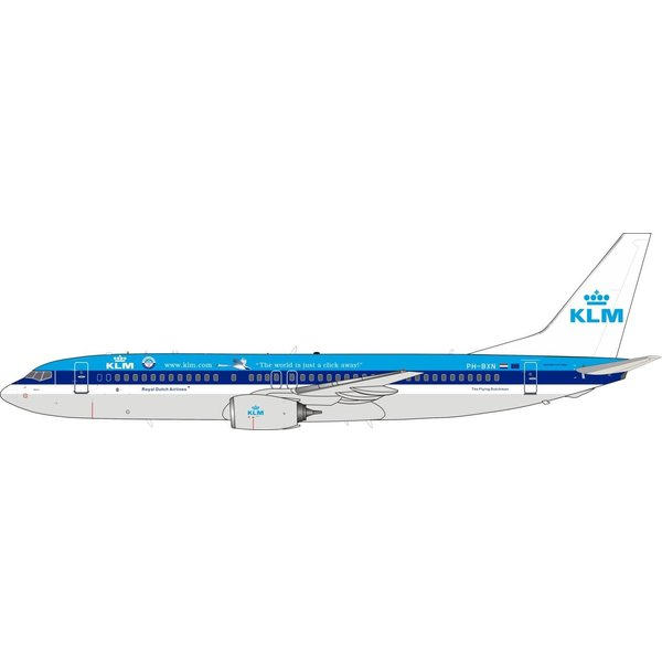 JFOX B737-800 KLM World is Just a Click PH-BXN 1:200