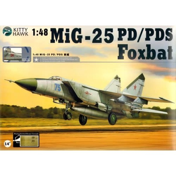 Kitty Hawk Models MIG25PD/PDS Foxbat 1:48**Ex-collection,with upgrades**used