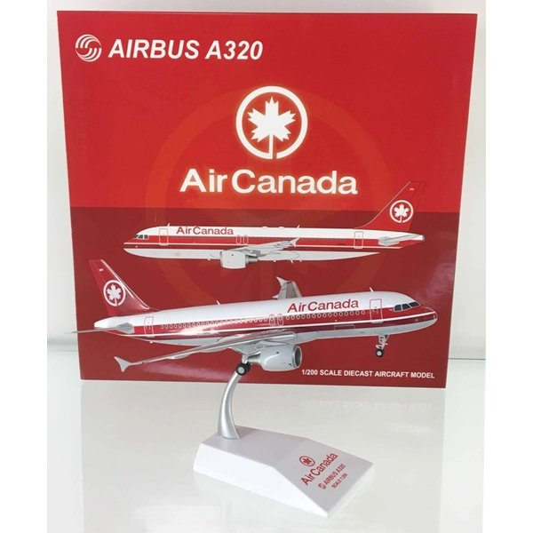 JC Wings A320 Air Canada Double Red Stripe C-FDRH 1:200