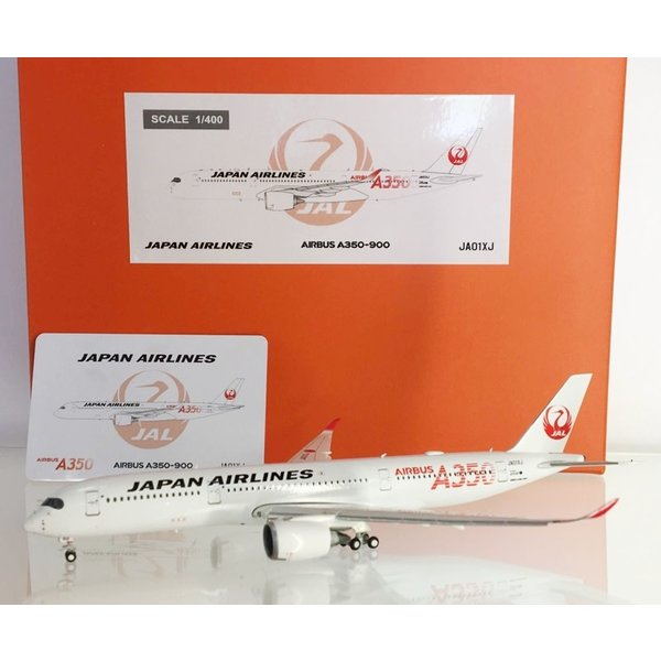 JC Wings A350-900 JAL Airbus A350 Red JA01XJ 1:400 flaps